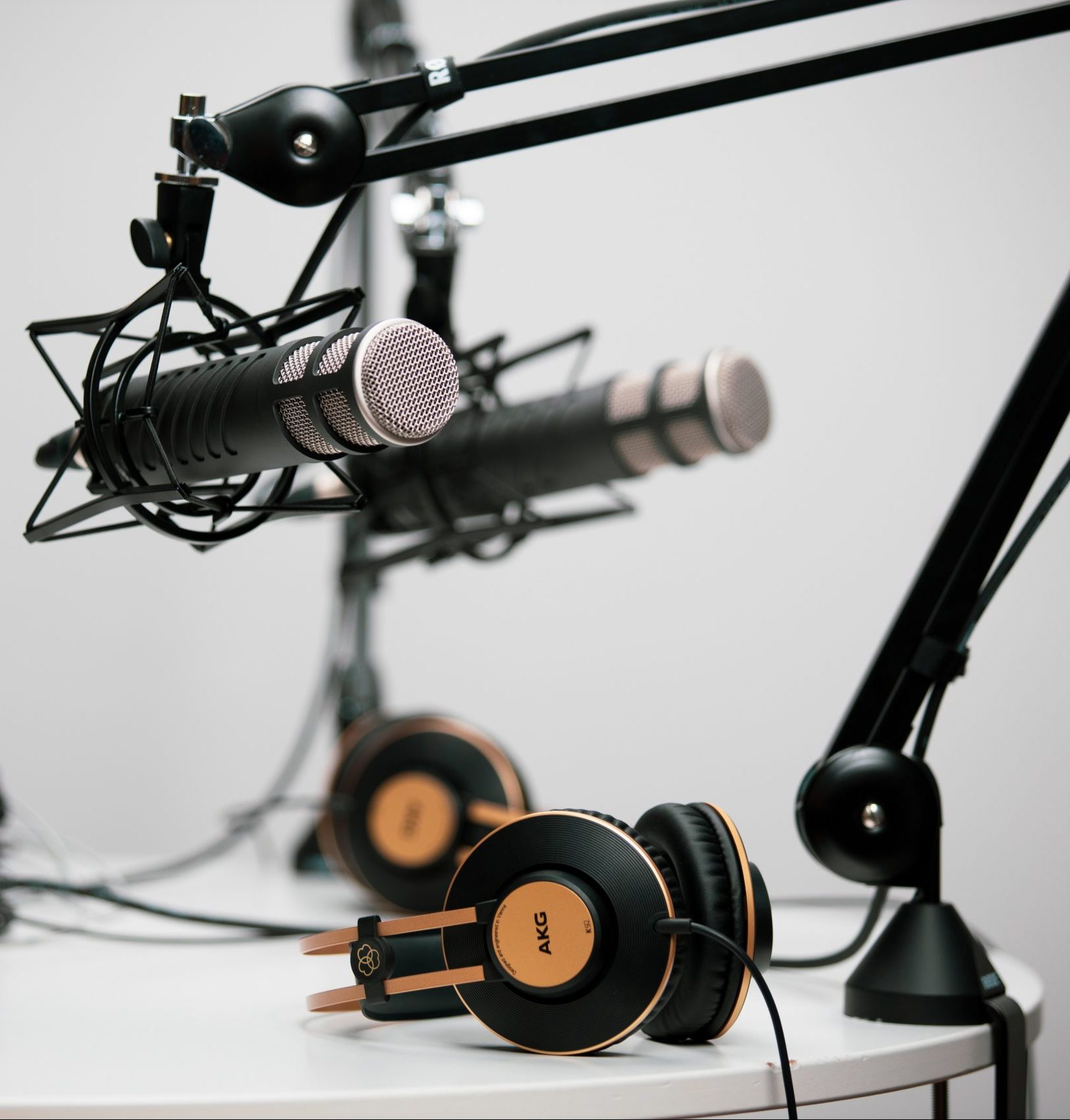 Podcast Microphones and Headphones